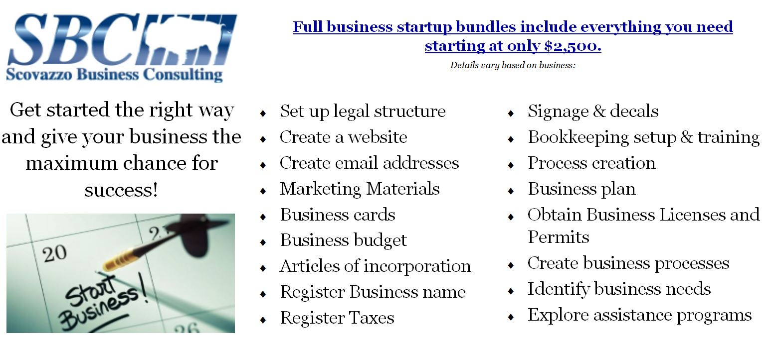 Business startup services buffalo ny scovazzo consulting business types magicingreecefo Images